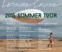 SUMMER TOUR SCHEDULE