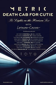 Metric / Death Cab For Cutie Tour
